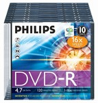 Philips DVD-R 4,7 GB 16X slim