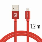 SWISSTEN kabel USB/lightning 1,2m červený iPhone