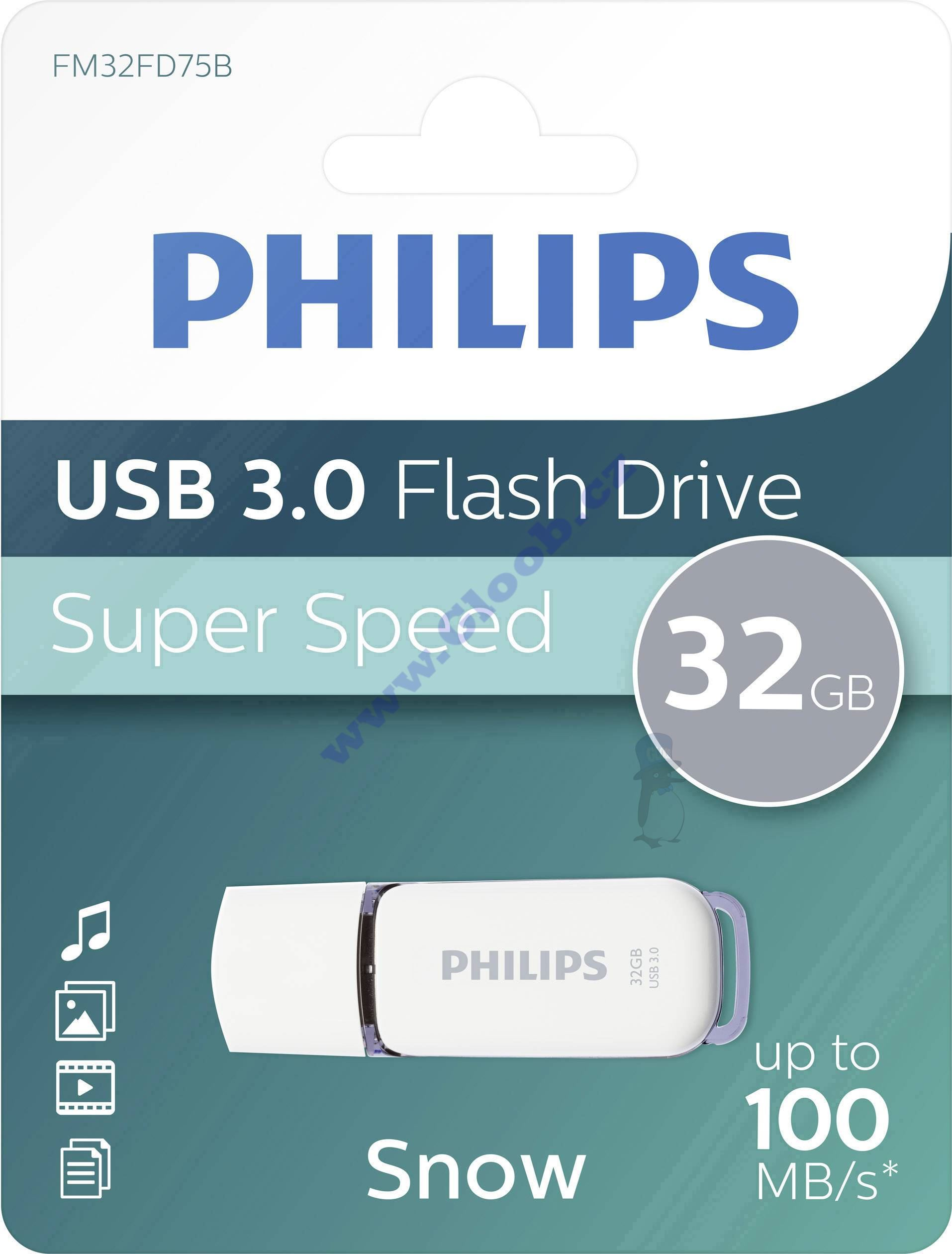 USB flash disk 32GB FM32FD75B/10 Philips SNOW