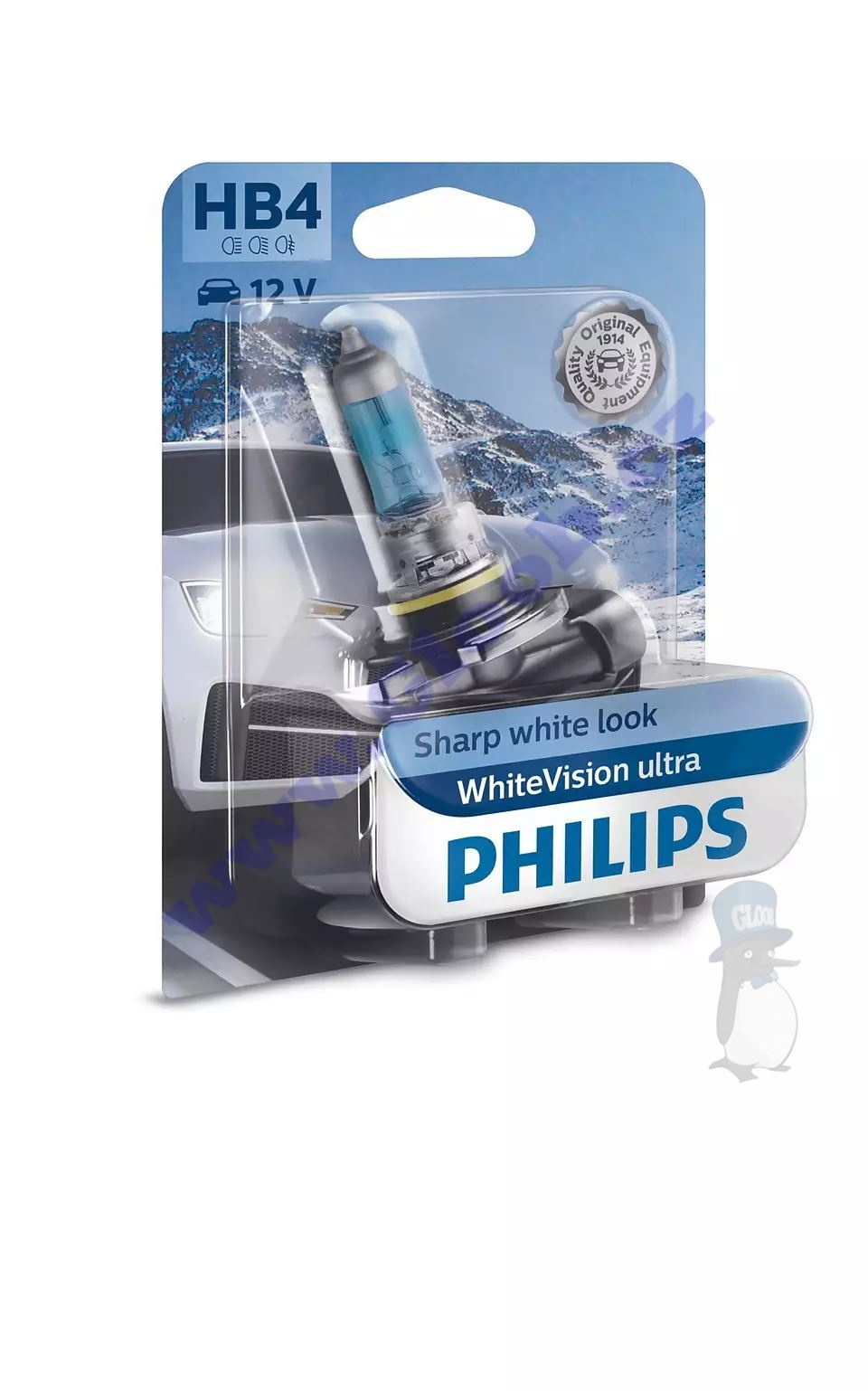 Philips WhiteVision ultra 9006WVUB1 HB4 P22d 12V 60W